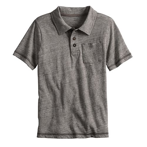 Boys 4-12 SONOMA Goods for Life® Heathered Pocket Polo