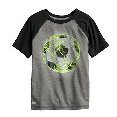 Boys 4-12 Jumping Beans® Playcool Soccer Ball Raglan Active Tee
