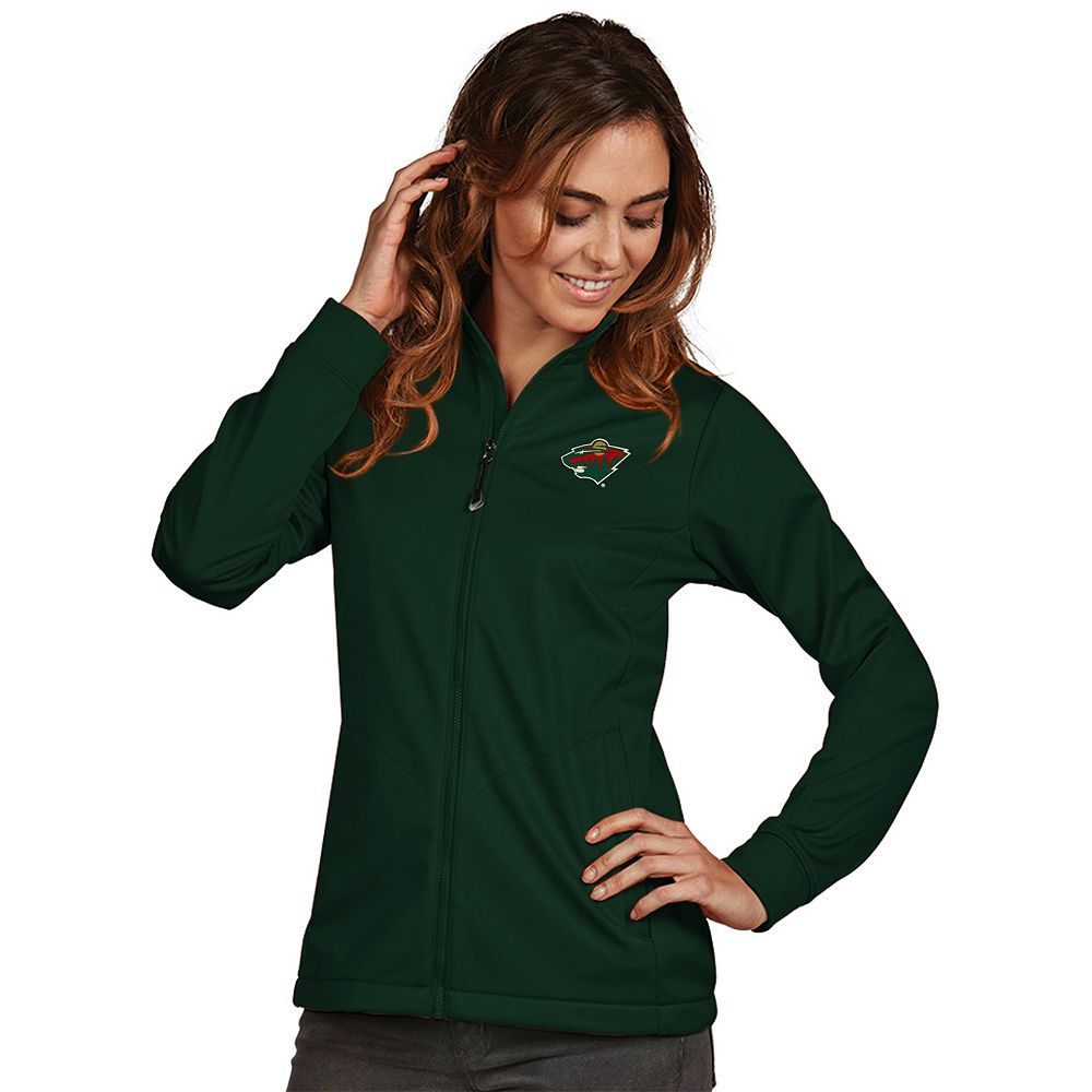 Women's Antigua Minnesota Wild Golf Full Zip Jacket
