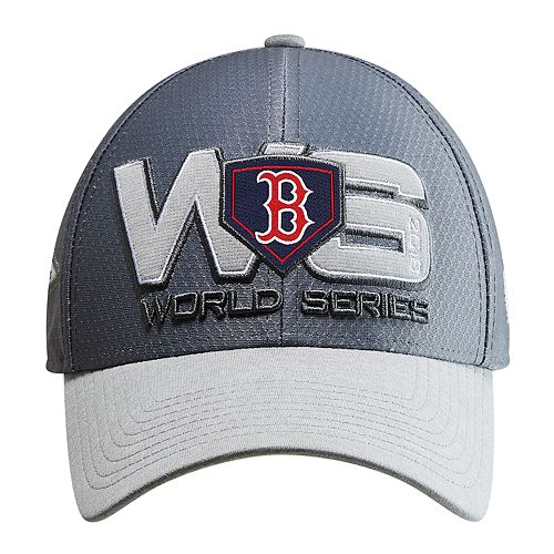 Adult New Era Boston Red Sox 2018 World Series Bound Locker Room 39THIRTY  Flex-Fit Cap 9535a072ec85