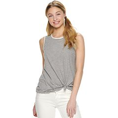 Juniors' SO® Printed Muscle Tank Top