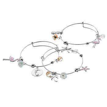 Paradise Charm Bangle Bracelet Set