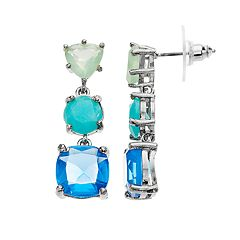 Simulated Stone Drop Earring
