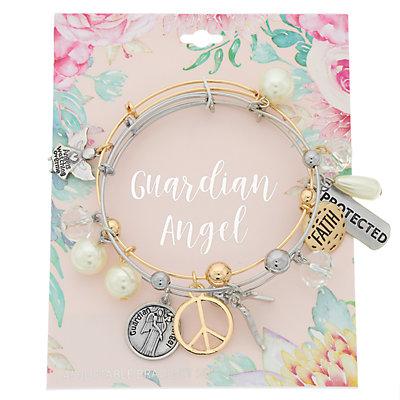 """Guardian Angel"" Charm Bangle Bracelet Set"