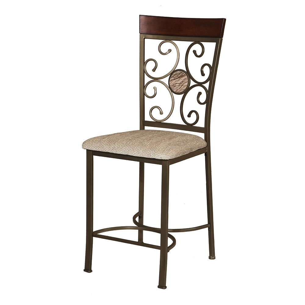 Home Source Abel Bronze Counter Stool 2-piece Set