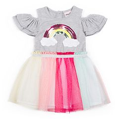 Girls 4-6x Little Lass Rainbow Dress
