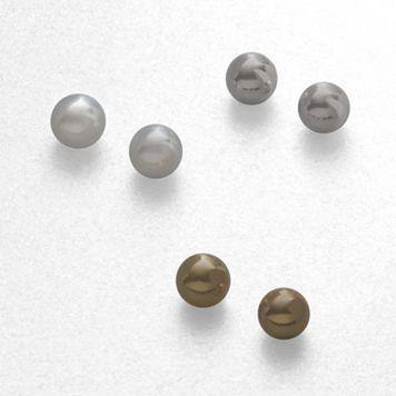 Croft & Barrow® Ball-Stud Earring Set