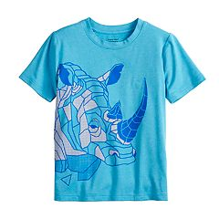 Boys 4-12 Jumping Beans® Geometric Rhino Active Tee