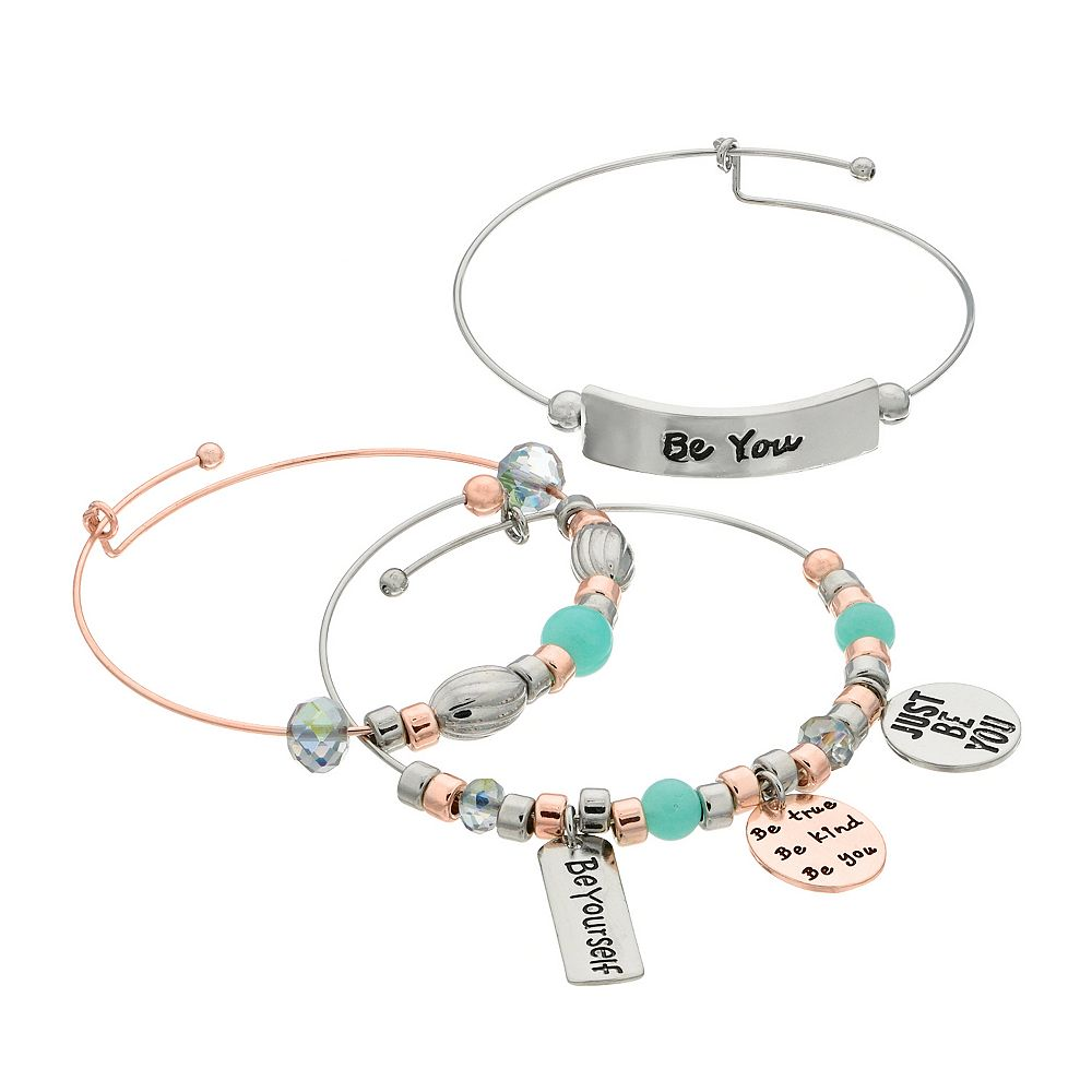 """Be You"" Bangle Bracelet Set"