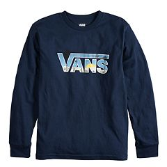 b2c83a38c5c7 Boys 8-20 Vans Beach Seen Tee. Black Heather Navy