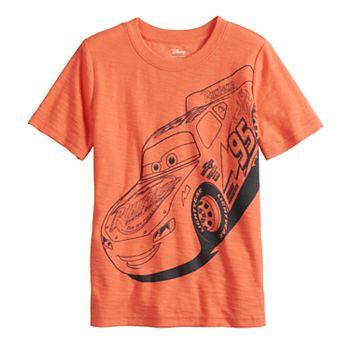 Disney / Pixar Cars Boys 4-12 Lightning McQueen Slubbed Graphic Tee by Jumping Beans®