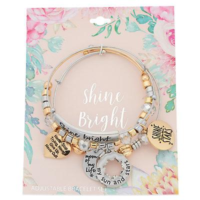 """Shine Bright"" Bangle Bracelet Set"