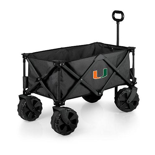 Picnic Time Miami Hurricanes Adventure All-Terrain Wagon