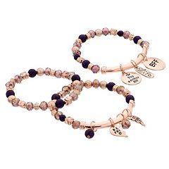 'Best Friends' Charm Stretch Bracelet Set
