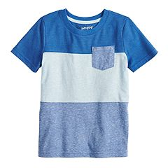 Boys 4-12 Jumping Beans® Colorblock Pocket Tee