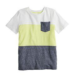 Boys 4-12 Jumping Beans® Colorblock Pocket Tee