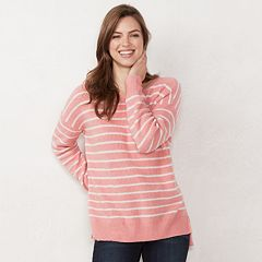 Women's LC Lauren Conrad Oversized Stripe Sweater