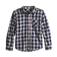 Boys 4-12 SONOMA Goods for Life™ Checked Woven Shirt