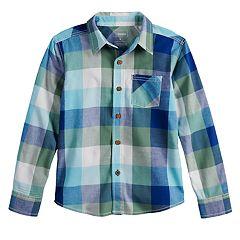 Boys 4-12 SONOMA Goods for Life™ Plaid Button Down Woven Shirt