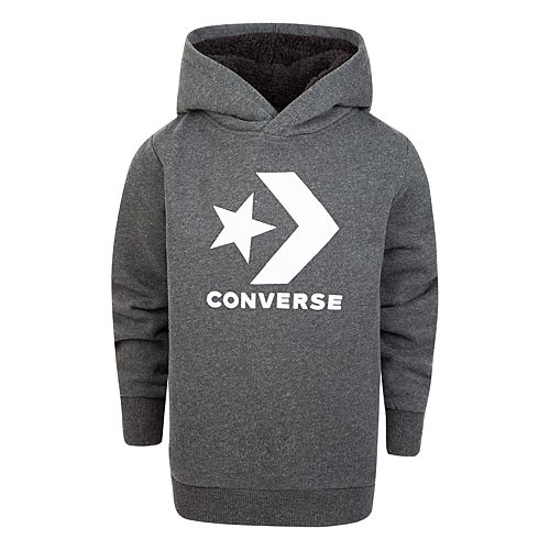 Boys 8-20 Converse Sherpa-Lined Pullover Hoodie