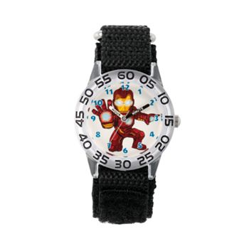 Marvel's Superhero Adventure Iron Man Kids' Time Teacher Watch