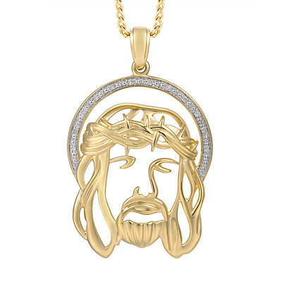 Men's Diamond Accent 10K Gold Pendant Necklace