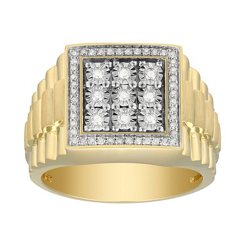 Men's 10K Gold 1/3 Carat T.W. Diamond Ring