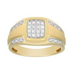 Men's 1/3 Carat T.W. Diamond 10K Gold Ring
