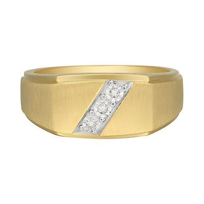 Men's 10K Gold Diamond Accent Ring