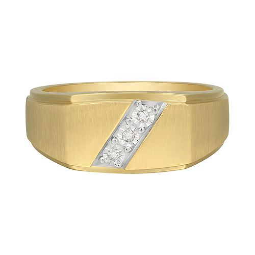 Men's 10K Gold Diamond Accent Ring