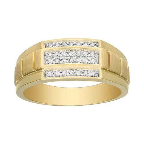 Men's 10K Gold 1/4 Carat T.W. Diamond Ring