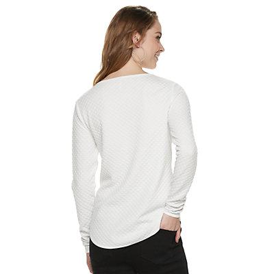 Women's ELLE? 2-pocket Pullover Top