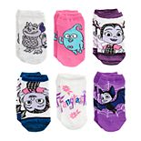 Disney's Vampirina Girls 4-6x 6-pack No-Show Socks
