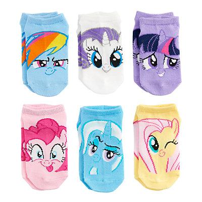 Girls 4-6x My Little Pony 6-pack No-Show Socks