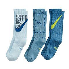 Boys 4-20 Nike 3-Pack Crew Socks