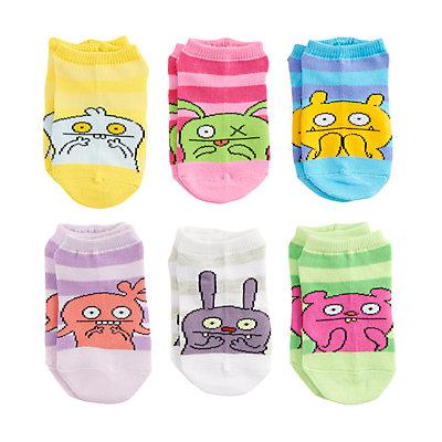 Girls 4-6x UglyDolls 6-pack No-Show Socks