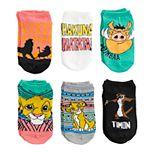 Disney's The Lion King Girls 4-6x 6-pack No-Show Socks