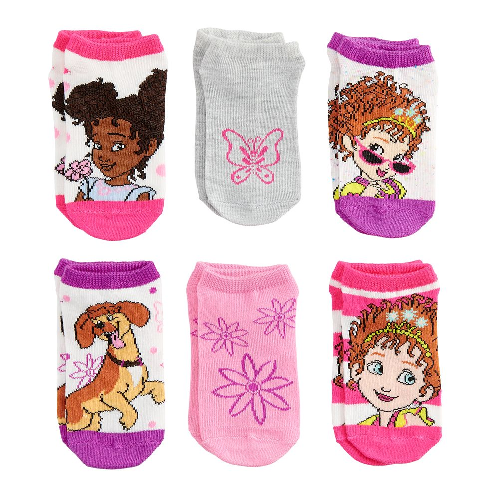 Disney's Fancy Nancy Girls 4-6x 6-pack No-Show Socks