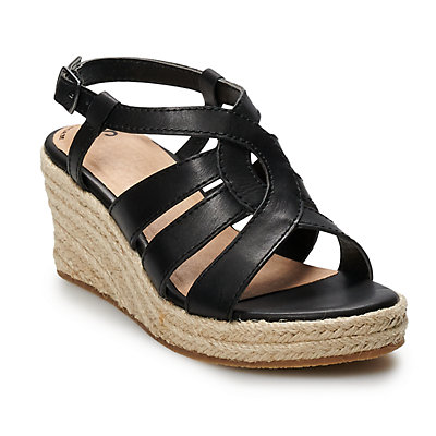 SO® Jonna Girls' Espadrille Wedge Sandals