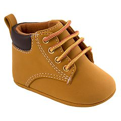 Baby Boy Wee Kids Faux Nubuck Hi-Top Crib Shoes