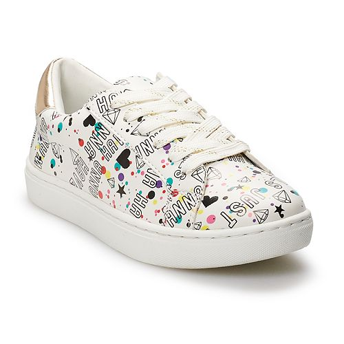 SO Girls' Graffiti Low Top Sneakers