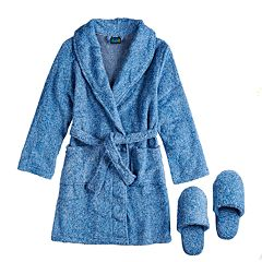 Boys 4-20 Jellifish Plush Robe & Slippers
