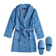 Boys 4-20 Jellifish Plush Robe & Slippers