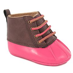 Baby Girl Wee Kids Fuchsia Duck Boot Crib Shoes