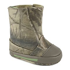 Baby Boy Wee Kids RealTree Camo Boot Crib Shoes