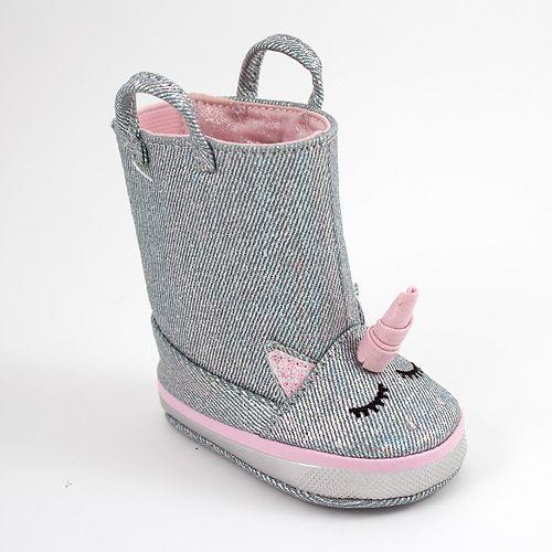 Baby Girl Wee Kids Unicorn Boot Crib Shoes