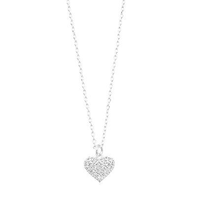 LC Lauren Conrad Pave Heart Pendant