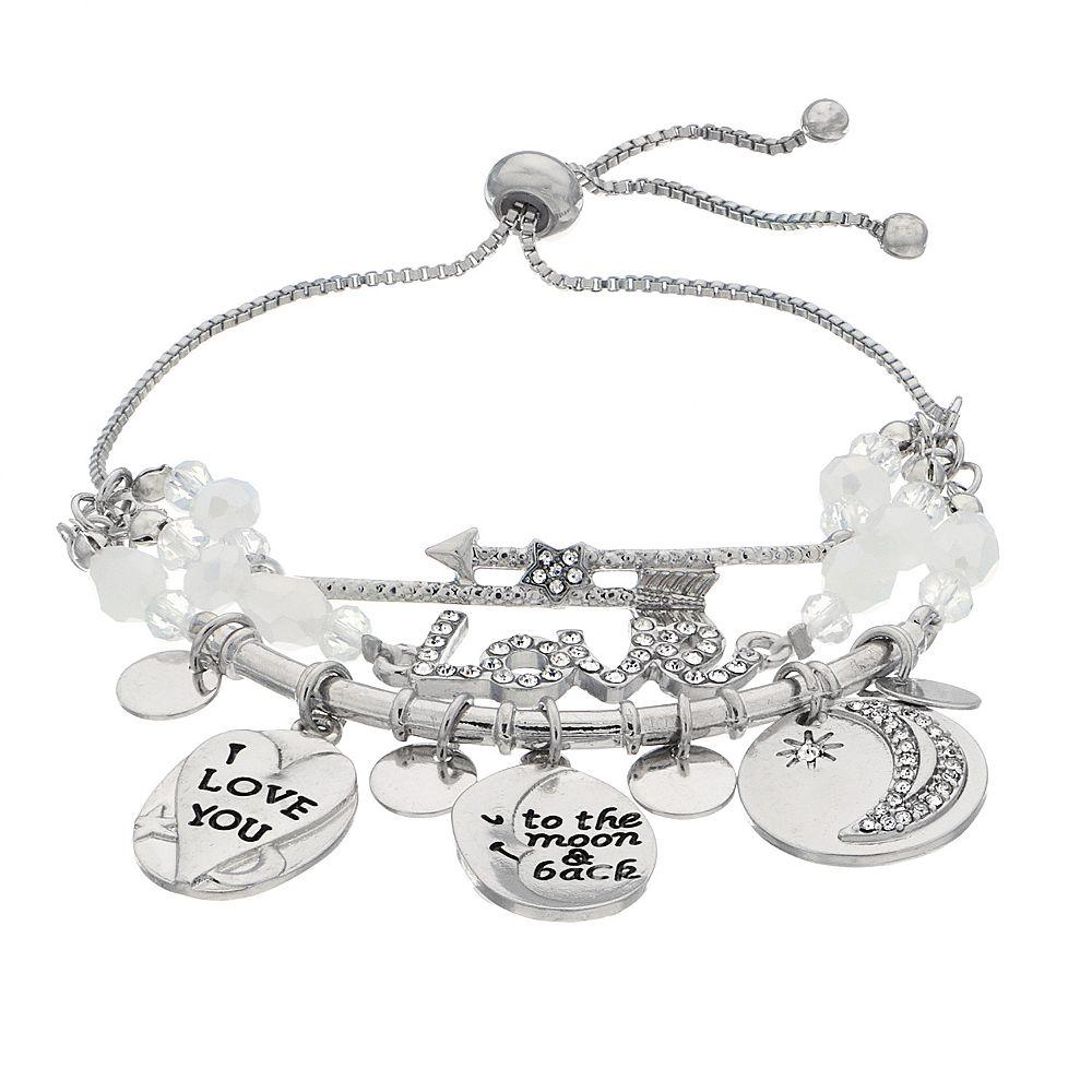 Love Adjustable Charm Bracelet