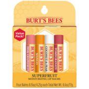 Burt's Bees 4-Pack Superfruit Lip Balm
