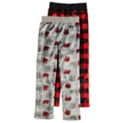 Boys 4-20 Jellifish Bear Plaid 2-Pack Sleep Pants